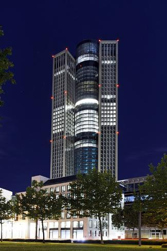 Tower 185, Dusk, Theodor-Heuss-Allee, District Gallus, European District Photographic Print
