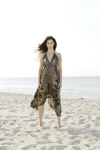 Woman, Young, Summer Dress, Sandy Beach, Niendorf on the Baltic Sea Photographic Print
