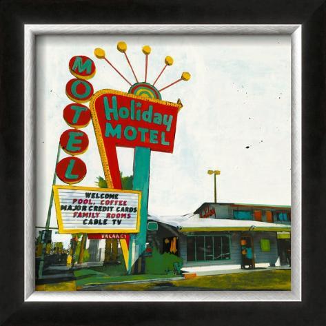 Holiday Motel: Miami Highway Framed Art Print