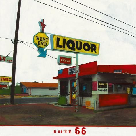 Route 66: West End Liquor Framed Art Print