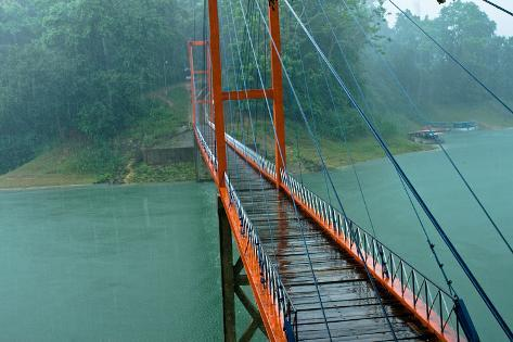 Rangamati Hanging Bridge Photographic Print