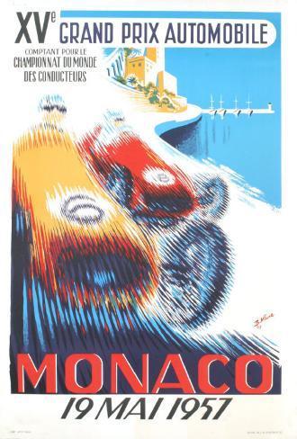 Monaco Grand Prix, 1957 Art Print