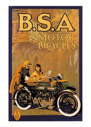 B.S.A. Motor Bicycles Art Print