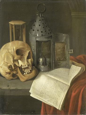 Vanitas Still Life, B. Schaak. Art Print