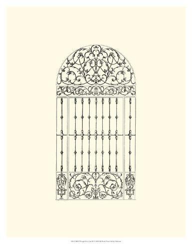 B&W Wrought Iron Gate III Giclee Print