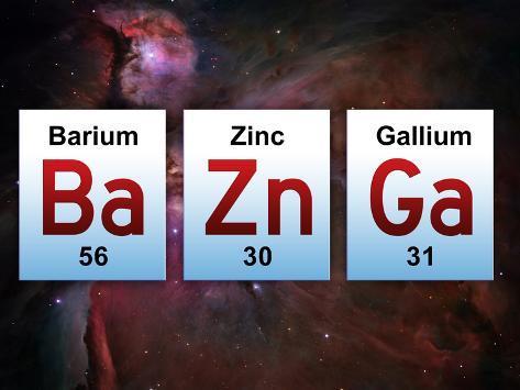 Ba Zn Ga Elements Poster