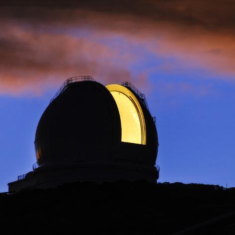 The William Herschel Telescope at Dawn Photographic Print