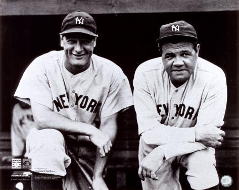 Babe Ruth & Lou Gehrig Photo