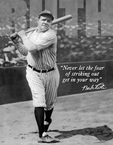 Babe Ruth - No Fear Plåtskylt