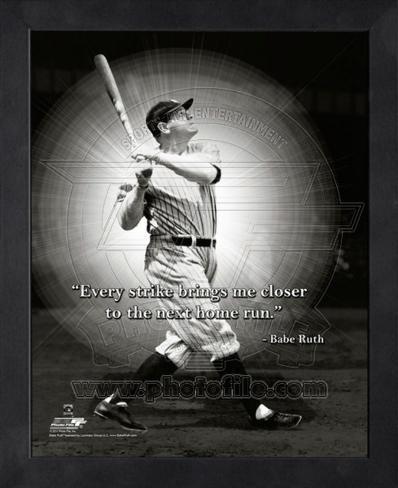 Babe Ruth ProQuote Framed Memorabilia