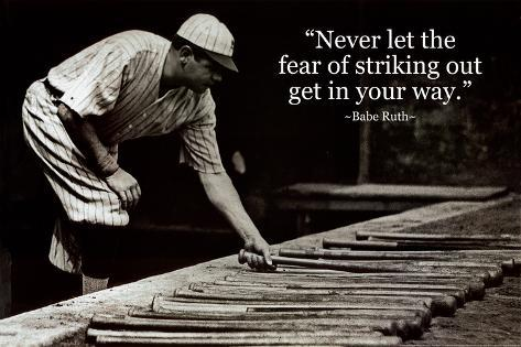 Babe Ruth Quotes Impressive Babe Ruth Striking Out Quote Posters At AllPosters