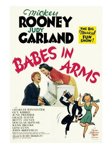Babes in Arms, Mickey Rooney, Judy Garland, 1939 Photo