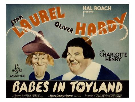 Babes in Toyland, Stan Laurel, Oliver Hardy, 1934 Fotografía