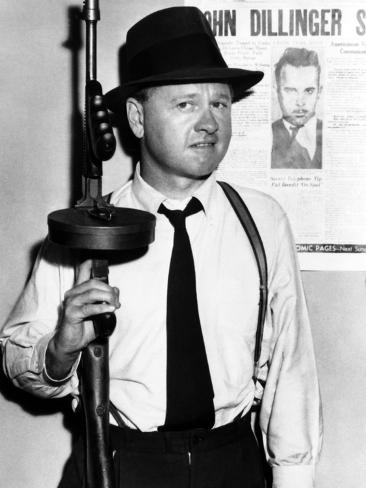 Baby Face Nelson, Mickey Rooney, 1957 Photo