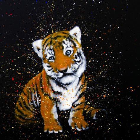 Baby Tiger Art Print