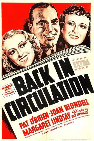 Back in Circulation, Joan Blondell, Pat O'Brien, Margaret Lindsay, 1937 Art Print
