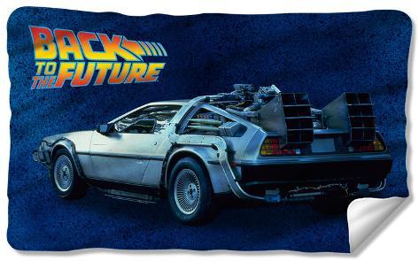 Back To The Future - Delorean Fleece Blanket Fleece Blanket