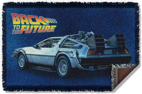 Back To The Future - Delorean Woven Throw Throw Blanket
