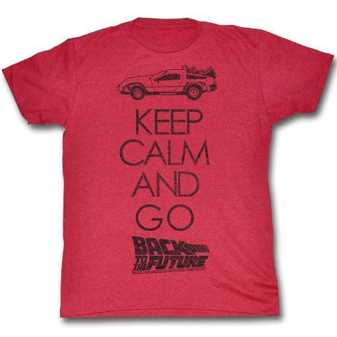 Back To The Future - Keep Calm Camiseta