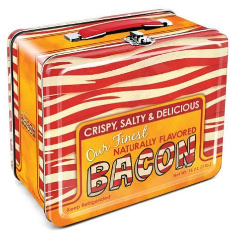 Bacon Retro Vintage Metal Lunch Box Lunch Box