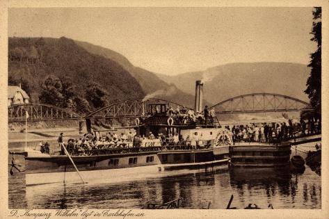 Bad Karlshafen Weser, Dampfer Kronprinz Wilhelm Stampa giclée
