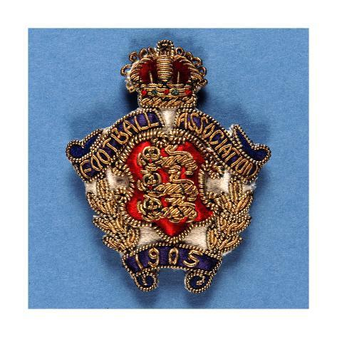 Badge from the Football Assocation, 1905 Giclee Print