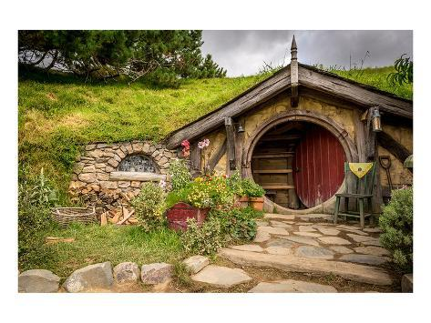 Baggin Hobbit Home New Zealand アートプリント