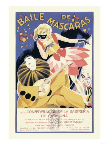 Baile de Mascaras Konstprint