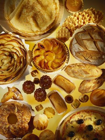 Baking Still Life with Sweet and Savoury Specialities Photographic Print
