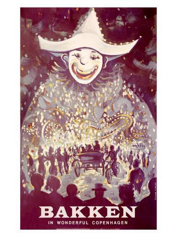 Bakken Parade of Lights Clownposter Giclee Print