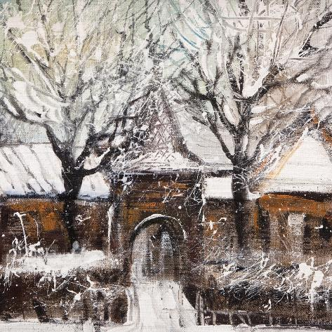 Old Street In Vitebsk In The Winter Art Print