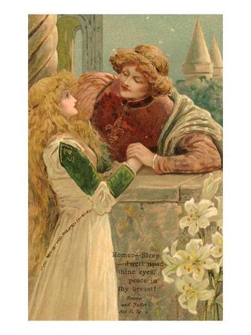 Balcony Scene, Romeo and Juliet Art Print