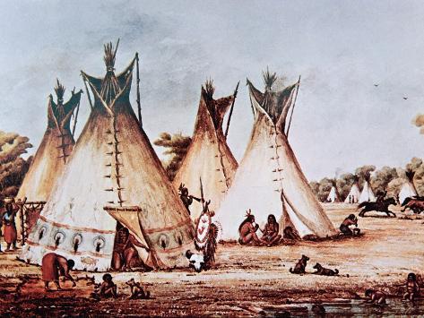 Village of the Kiowa Tribe Stampa giclée