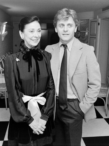 Ballerina Dame Margot Fonteyn with Dancer Choreographer Mikhail Baryshnikov Premium Photographic Print