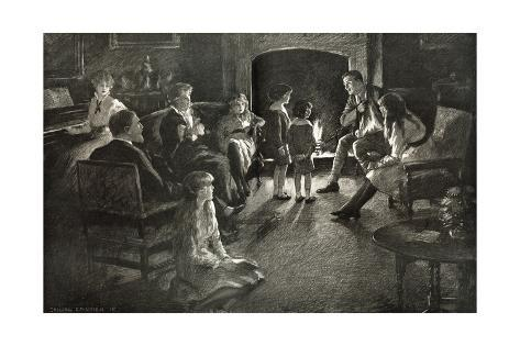 Soldier Home on Leave, 1915 Stampa giclée