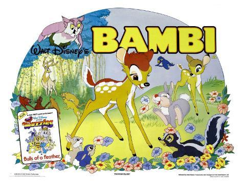 Bambi, UK Movie Poster, 1942 Art Print