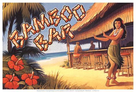 Bamboo Bar, Hawaii Art Print