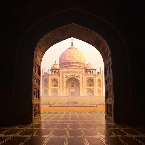 India. Taj Mahal Indian Palace. Islam Architecture. Door to the Mosque & India. Taj Mahal Indian Palace. Islam Architecture. Door to the ...