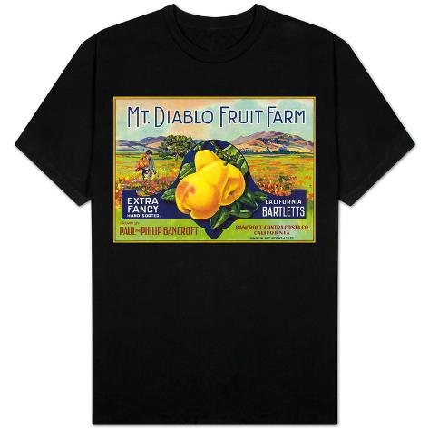 Bancroft california mt diablo fruit farm brand pear for Shirt printing stockton ca