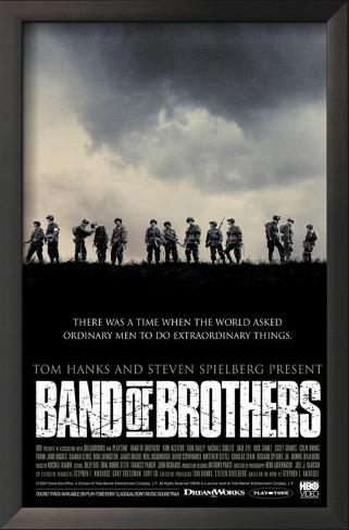 Band Of Brothers Impressão artística emoldurada