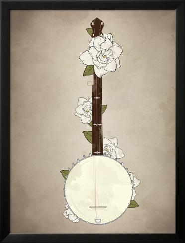 Banjo Romantics Lamina Framed Poster