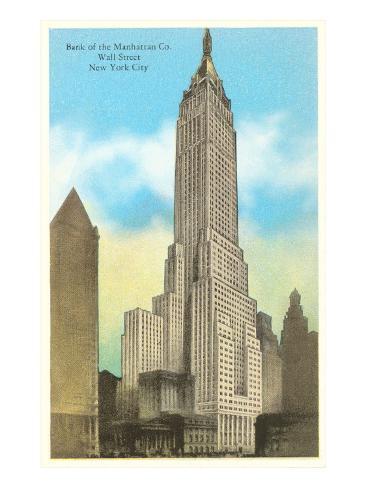Bank of Manhattan, New York City Art Print