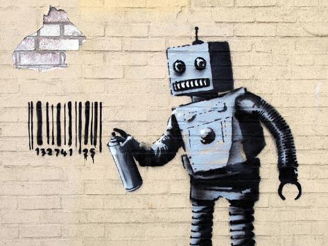 Robot Lámina giclée