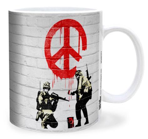 Banksy Soldiers Of Peace Mug Mug