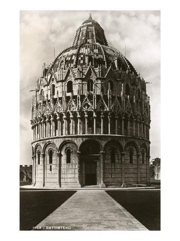Baptistry, Pisa, Italy Art Print