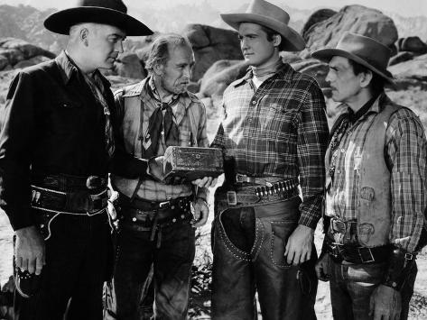 Bar 20, William Boyd, Andy Clyde, George Reeves, Francis McDonald, 1943 Stretched Canvas Print
