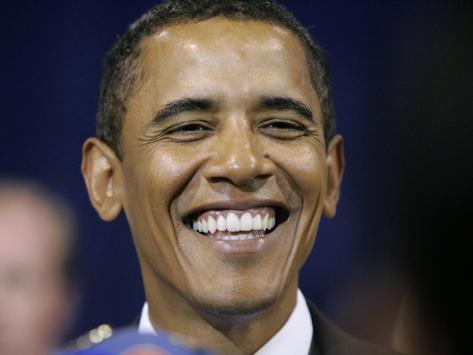 Barack Obama, Clinton, IA Photographic Print