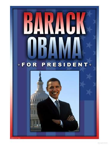 Barack Obama For President Art Print
