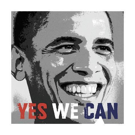 Barack Obama: Yes We Can Giclee Print
