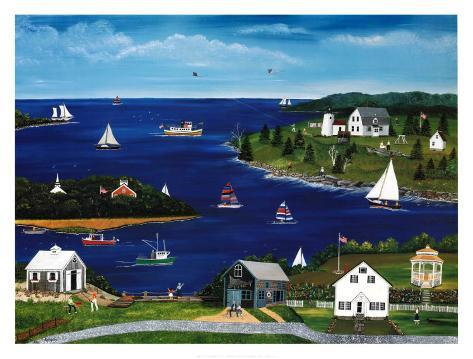 Summers in Maine Art Print